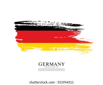 Flag of Federal Republic of Germany, brush stroke background