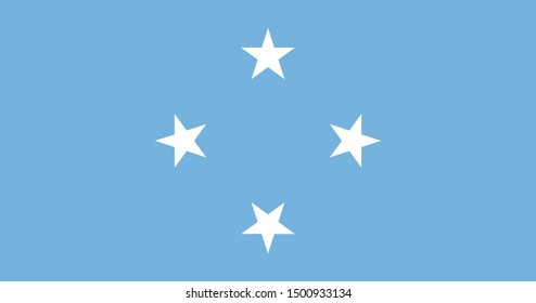Flag of the Federated States of Micronesia a vector illustration