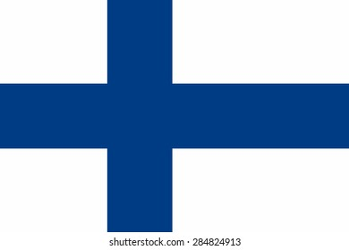 Flag of the Finland.