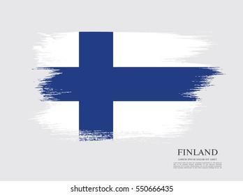 Flag of Finland, brush stroke background