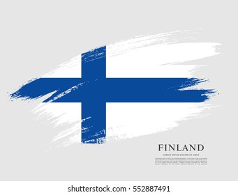 Flag of Finland, brush stroke background