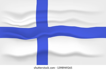 Flag of Finland. Scandinavian national flag background
