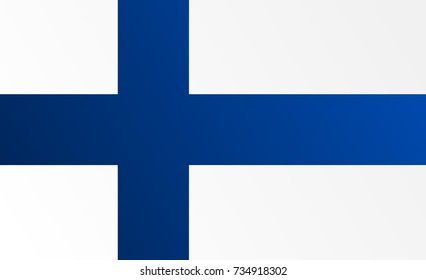 Flag of Finland with transition color - vector graphic