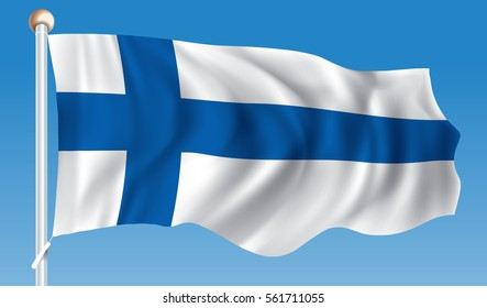 Flag of Finland - vector illustration