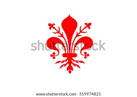 Fleur Illustration flag florence vector illustration coat arms stock vector (royalty