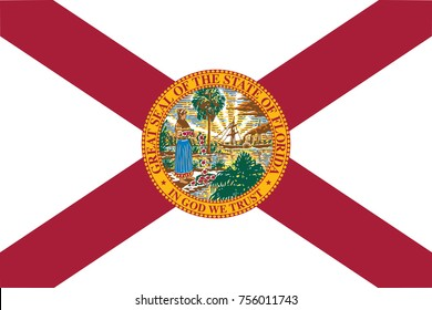 Flag of Florida. In the United States.