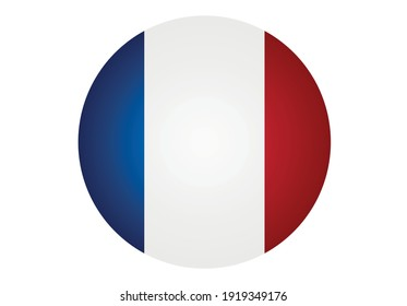 Flag of France in a circle.