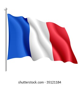 Flag of France. Vector.