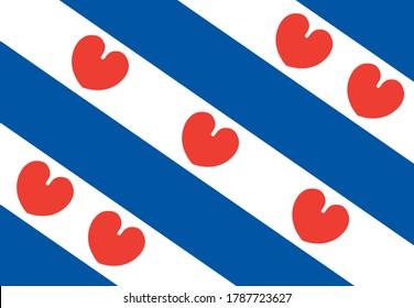 flag of friesland, netherlands. proportion correctly 9:13