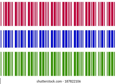 The Flag of Gambia in a Barcode Format