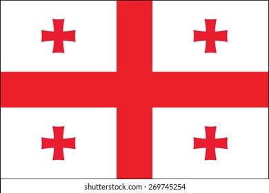 Flag of Georgia. illustration