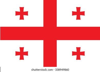 Flag of Georgia. Vector illustration.