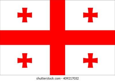 Flag of Georgia.Georgia Flag.Vector illustration