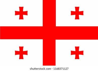 flag of Georgia,vector