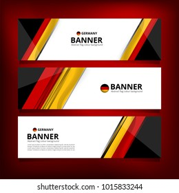 Flag of Germany Banner Background for Independence Day and other events, Vector illustration Design