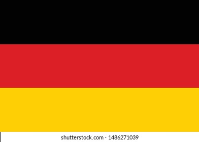 Flag of Germany with correct colour combinations