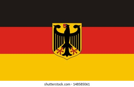 Flag of Germany with an eagle