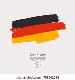 Flag of Germany in Grunge Brush Stroke : Vector Illustration