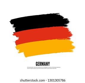 Flag of Germany in Grunge Brush. Vector