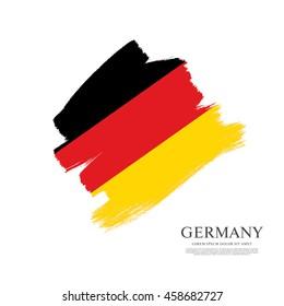 Flag of Germany made in brush stroke background