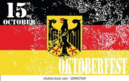 Flag of Germany.Oktoberfest