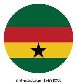 Flag of ghana Flag Isolated Vector Icon which can easily modify or edit
