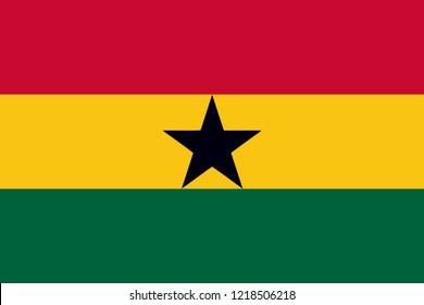 Flag of Ghana vector, country flags, flags,ghana flag