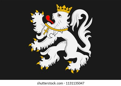 Flag of Ghent is a city and a municipality in the Flemish Region of Belgium. Vector illustration