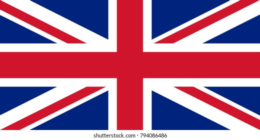 Flag of the Great Britain, British flag, Union Jack, accurate vector illustration.