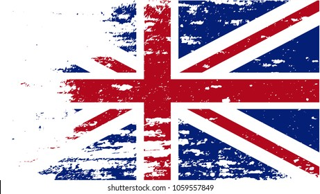 Flag of the Great Britain. Grunge illustration of a British flag.Vector illustration.