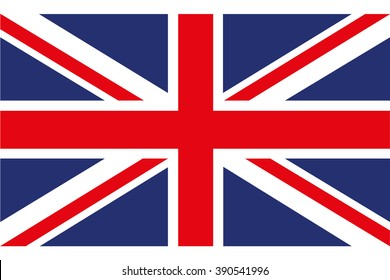 Flag of Great Britain on a white background, stylish vector illustration