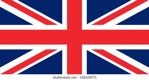 flag of the great britain original proportions vector