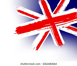"""Flag of Great Britain in the painterly style the grunge - vector - """"Brexit"""""""