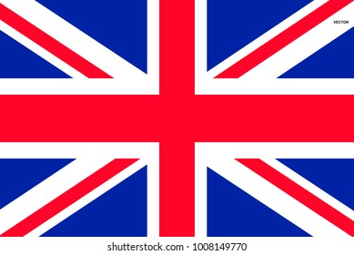 Flag of Great Britain. Symbol of Independence Day, souvenir soccer game, button language, icon.