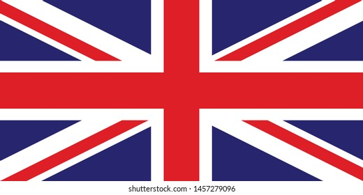 Flag of Great Britain, of the United Kingdom and Northern Ireland  background, UK flag Vector template for english study schools