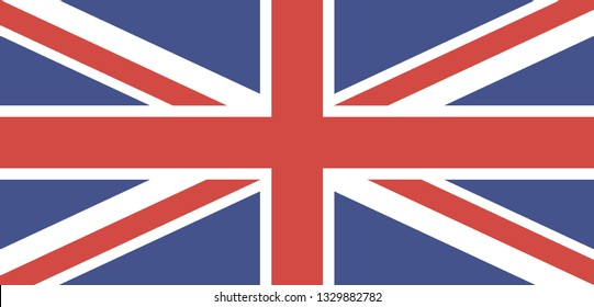 Flag of the Great Britain. Vector background icon