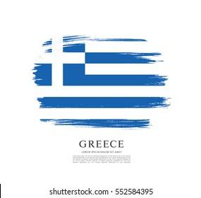 Flag of Greece, brush stroke background