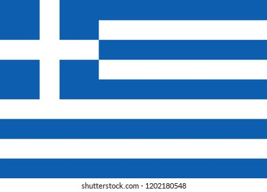 Flag of Greece in official rate and colors, vector.