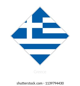 Flag of Greece participant of the Europe football competition. Vector flag.