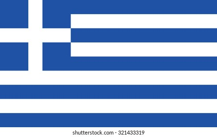Flag of Greece. Vector illustration of Greece flag
