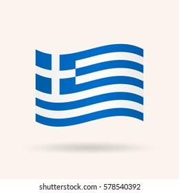 Flag of Greece. Vector illustration