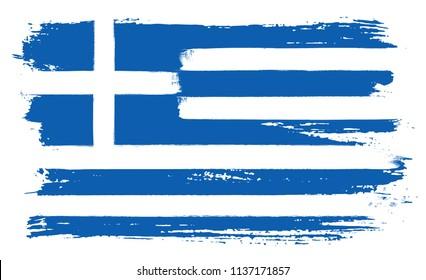 Flag of Greece.Greek flag in grunge style.