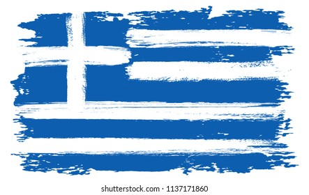 Flag of Greece.Greek flag in grunge style.