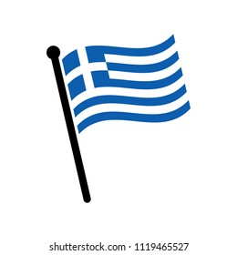 Flag of Greek. Greek Icon vector.