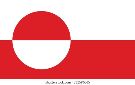 flag of greenland vector icon illustration eps10