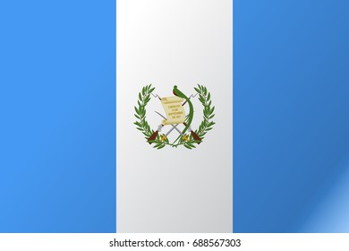 Flag Guatemala flat icon. State insignia of the nation in flat style on the entire page. National symbol in the form of a vector illustration