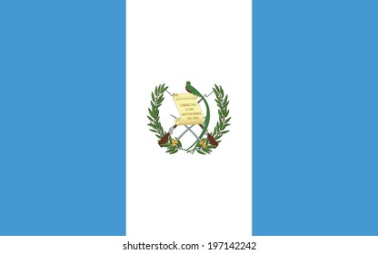 Flag of Guatemala. Vector.