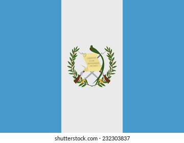 Flag of Guatemala vector illustration