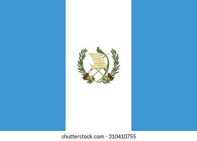 Flag of Guatemala. Vector illustration.