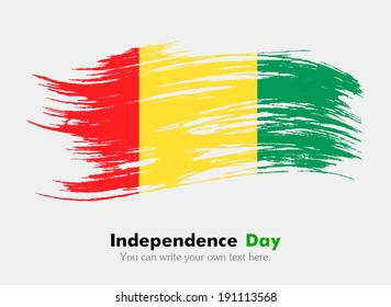 Guinea Happy Independence Day Scribble Flag Stock Vector (Royalty